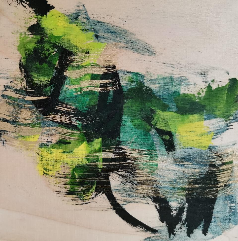 Vuoren rinne, 山腹, Mountain side, 20 x 20 / available from artleenakr@gmail.com 180€