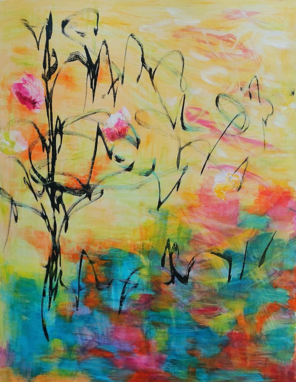 Magnolian uni /木蓮の夢 / Magnolia dreaming, 146 x 113 / available from artleenakr@gmail.com 2800€