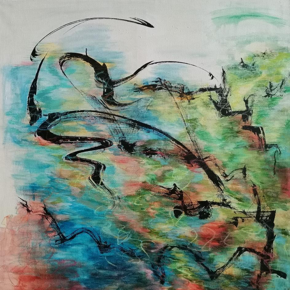 Puiden valtameri, 樹海,  Ocean of the trees, 100 x 100 / available in www.taiko.fi 2100€