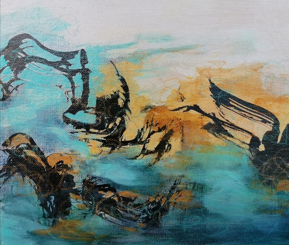 Vuoren laulu,  山の歌, Song of the mountain, 25 x 30 / available in www.taiko.fi