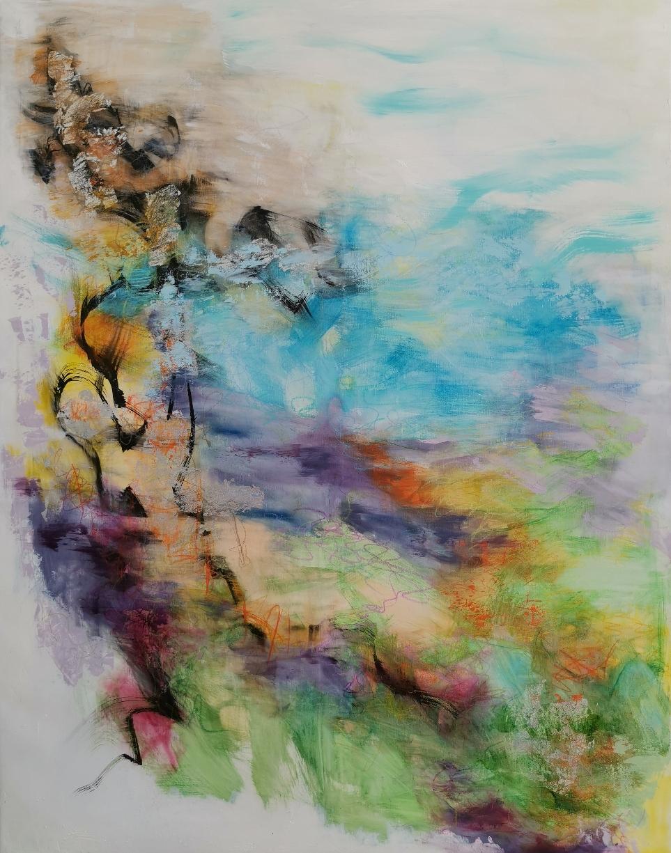 Sinitaivas, 青空、Blue sky, 146 x 113