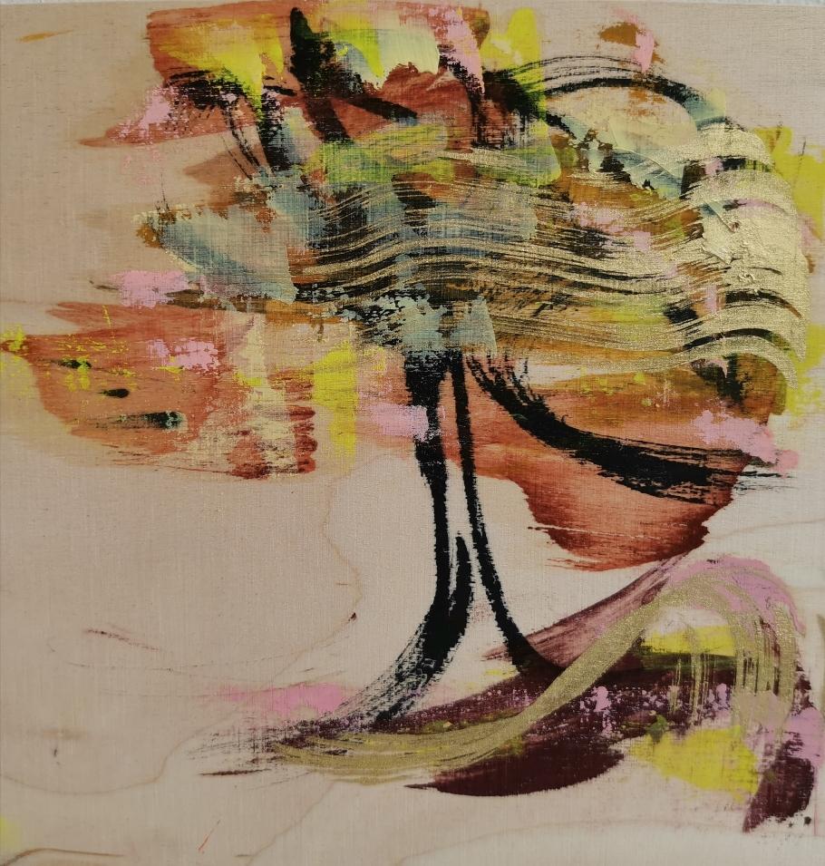 Tuulenpuu, 風の木, Wind and the tree, 20 x 20
