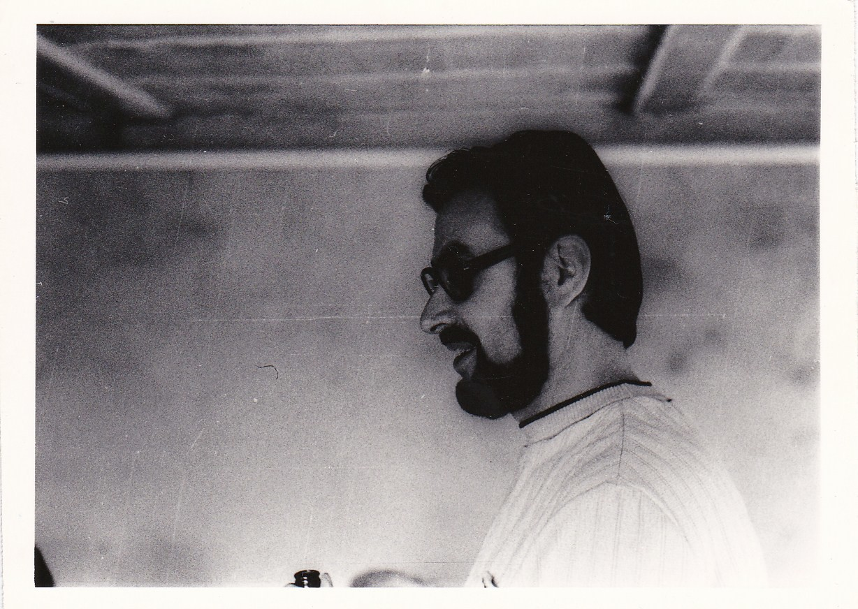 Bauheben in der Garage, 1975