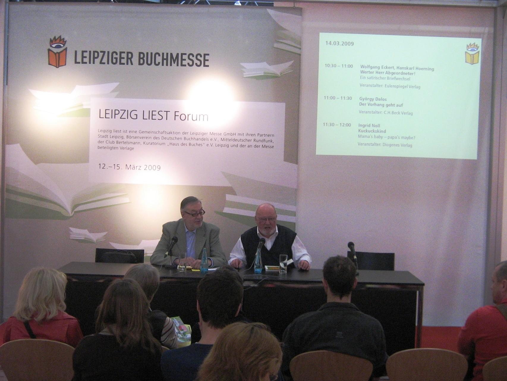Leipziger Buchmesse mit Hanskarl Hoerning