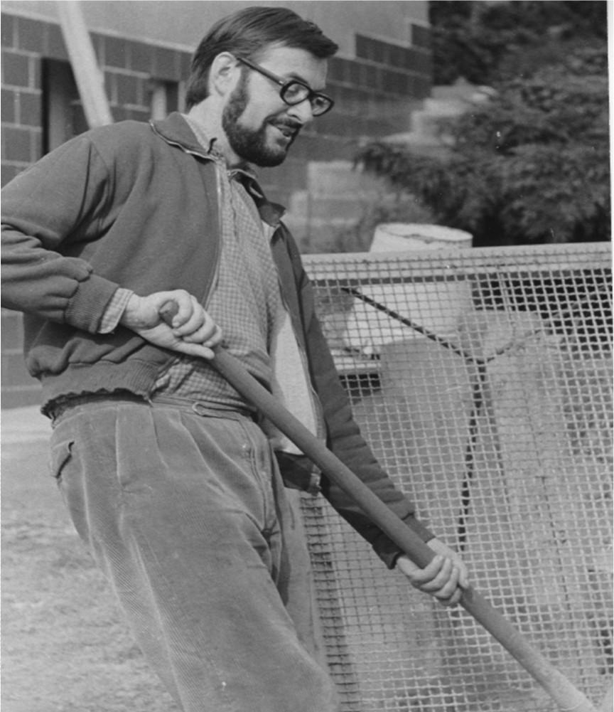 Beim Hausbau 1975