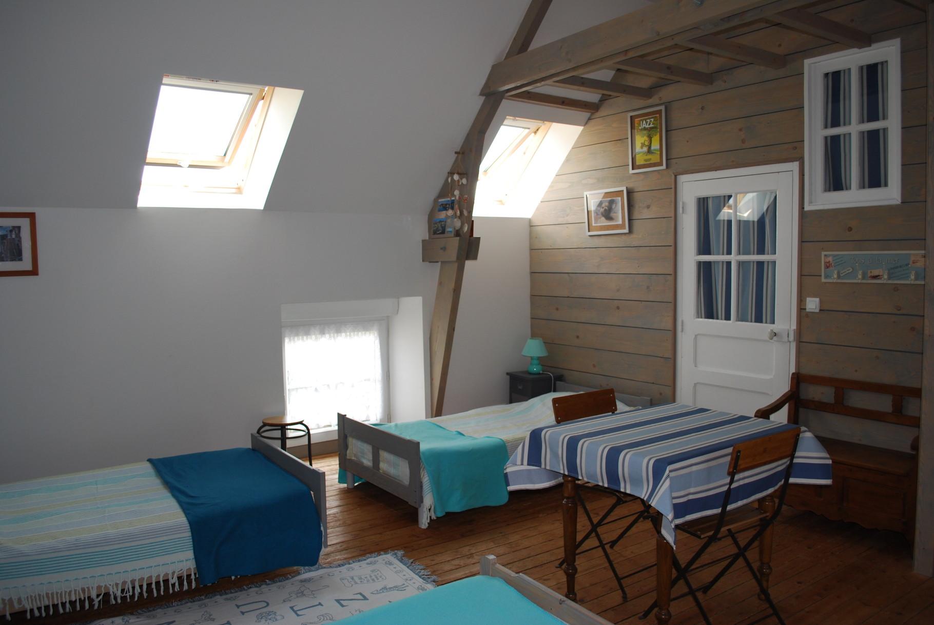 Chambre 2e etage gite le Manoir le Mont-Saint-Michel