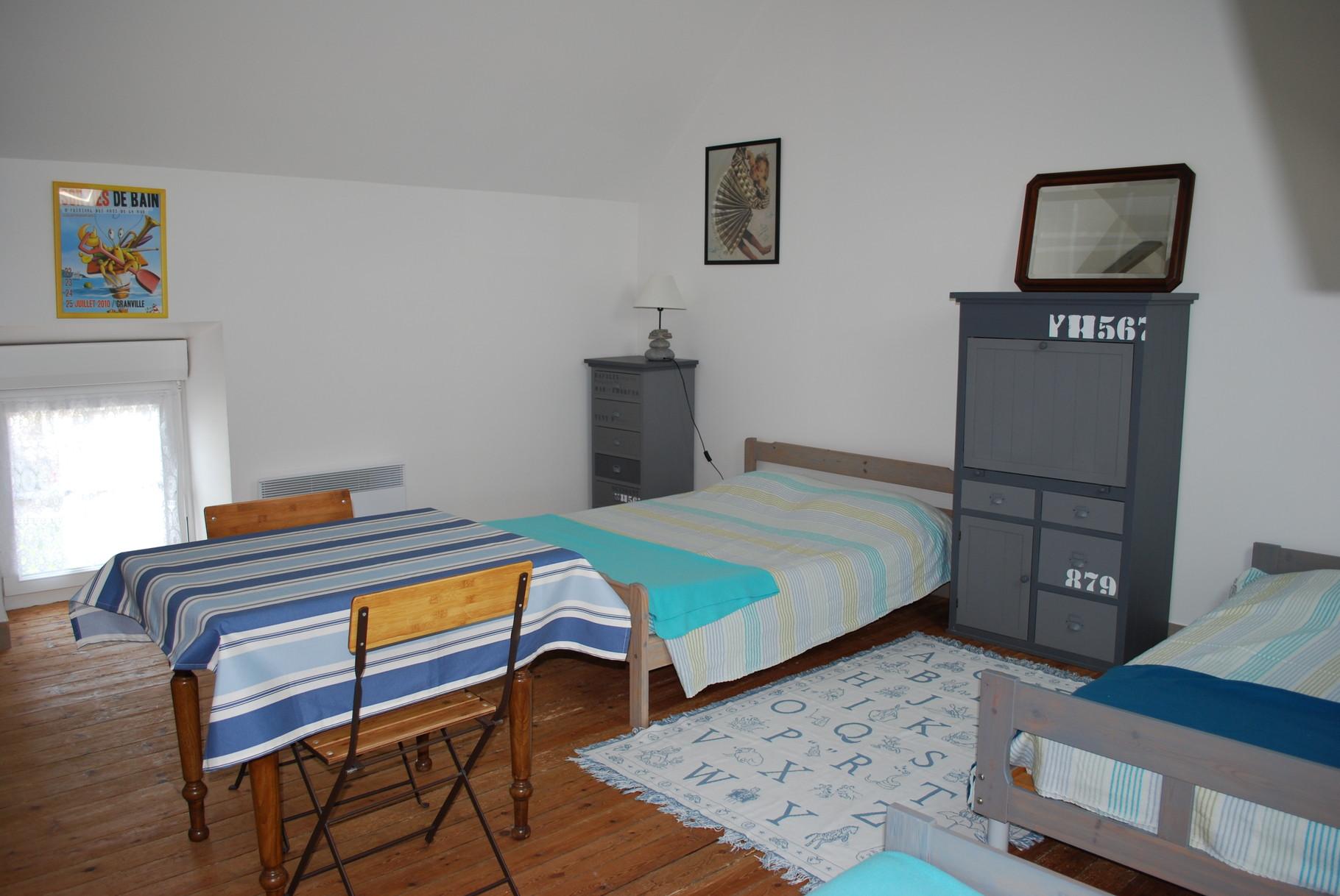 Chambre 2e etage gite le Manoir Champcey le Mont-Saint-Michel
