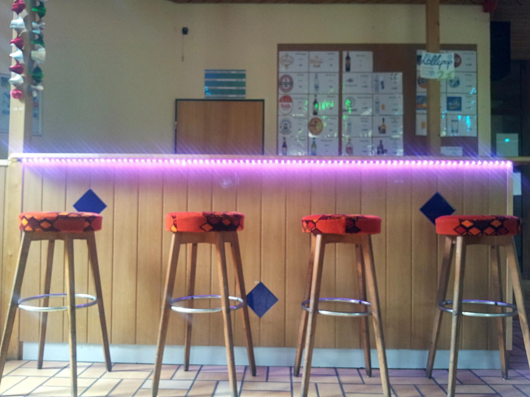 Clubraum in Haus 8 - Theke