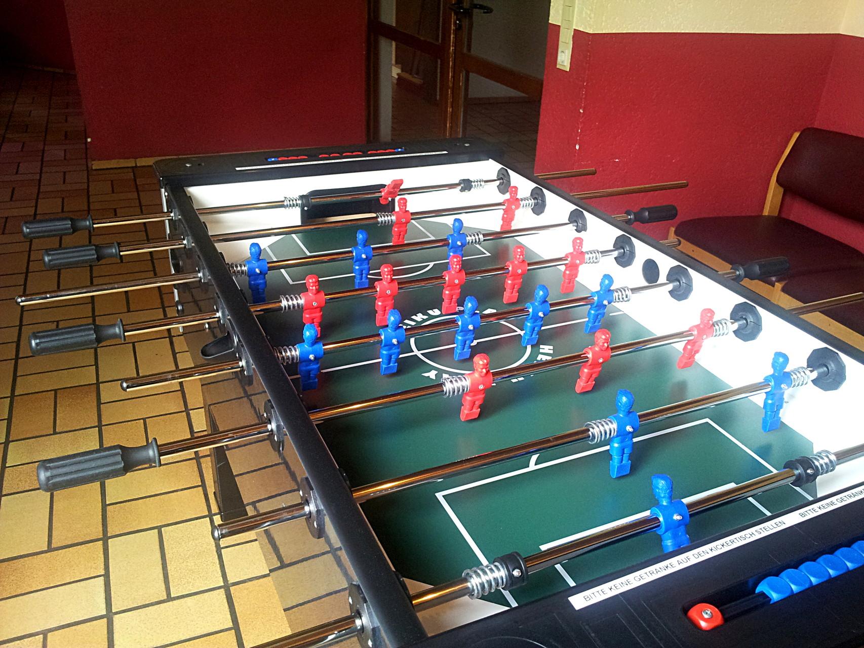 Clubraum in Haus I - Kicker
