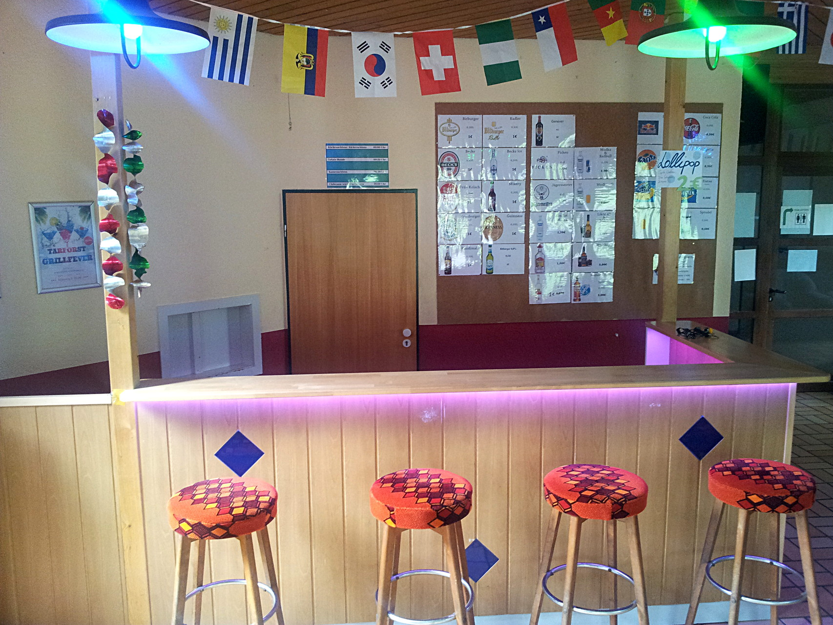 Clubraum in Haus I - Theke