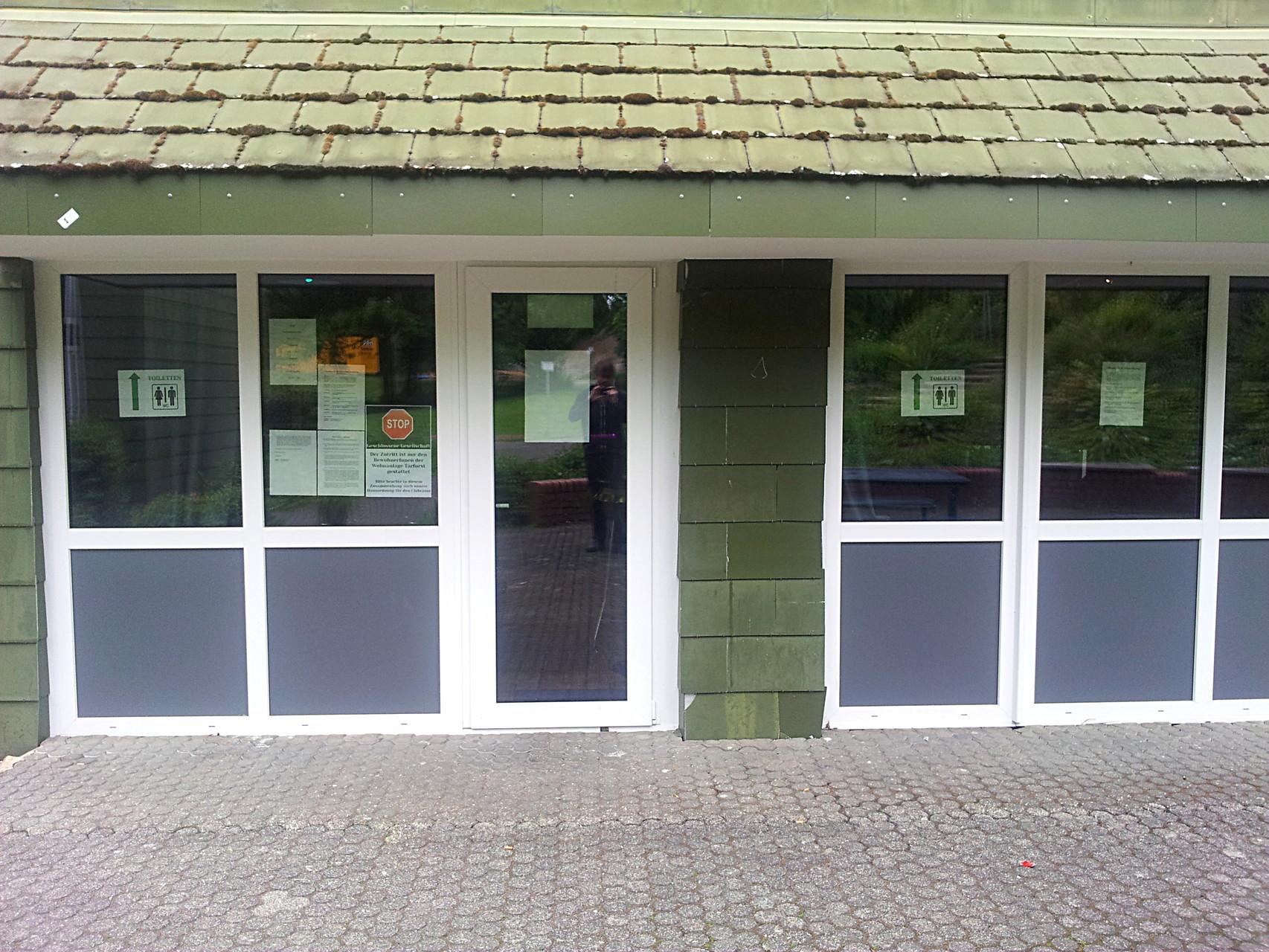 Clubraum in Haus 8 - Eingang