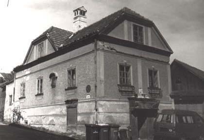 Das ehemalige Haus der Anna Maria Schindler (Quelle: zwettl.gv.at)