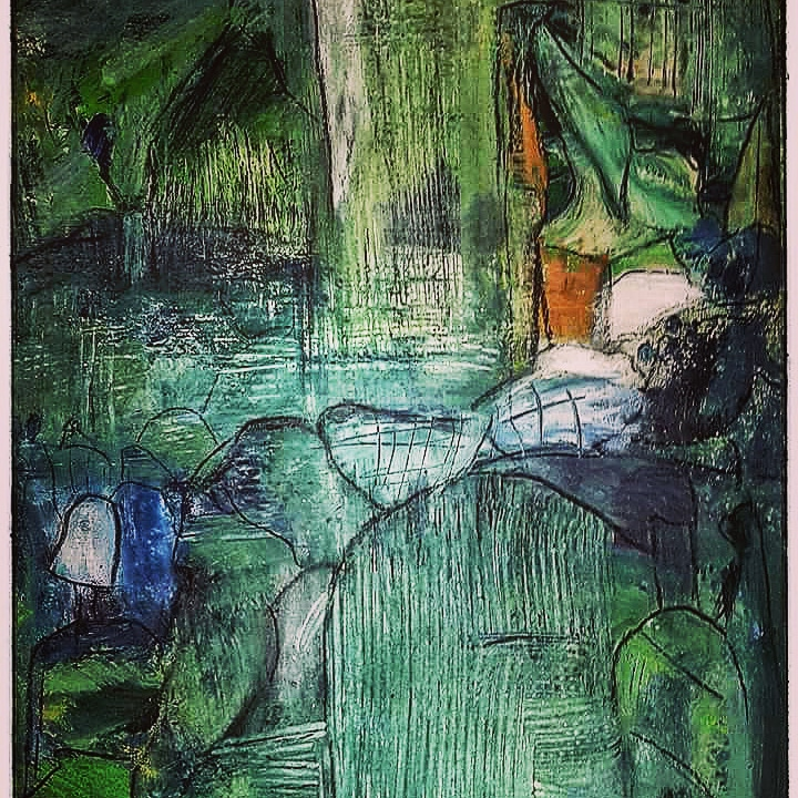 Acryl auf Leinwand  / 50x60 cm