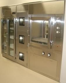 保冷 3段式 自動洗浄 パスボックス