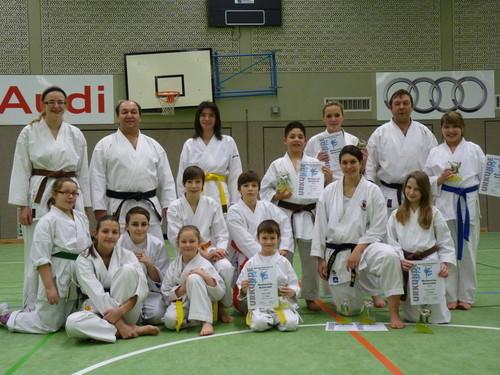 Erfolgreiche Wettkämpfer auf der Oberbayerischen in Vohburg (2012)