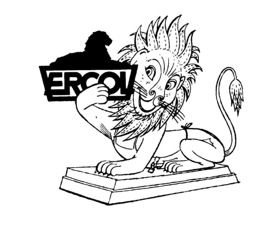Trafalgar Square広場のライオンがercolの看板を持つ。ココが原点。