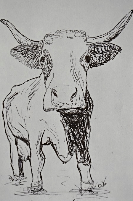 Grit Osiablo, Illustration, Malerin, Sturm im Kopf