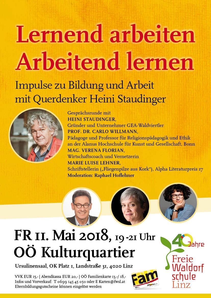 Heini Staudinger und Raphael Hoflehner, Moderator, Kultur, Linz