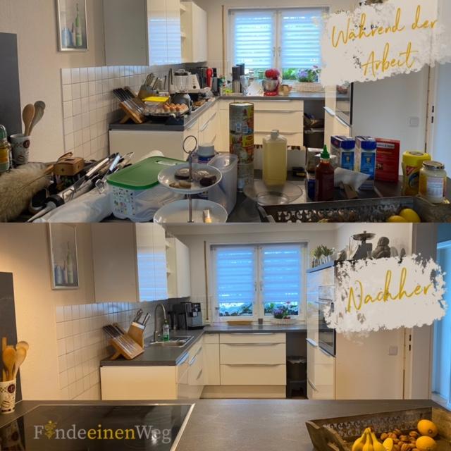 Küche und Abstellraum finden eine neue Ordnung