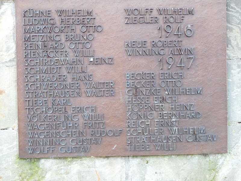Das Denkmal ist im Eigentum der Gemeinde Westerhausen