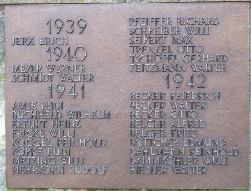 Die Namenslisten wurden vom Männerkreis der Kirche erstellt.