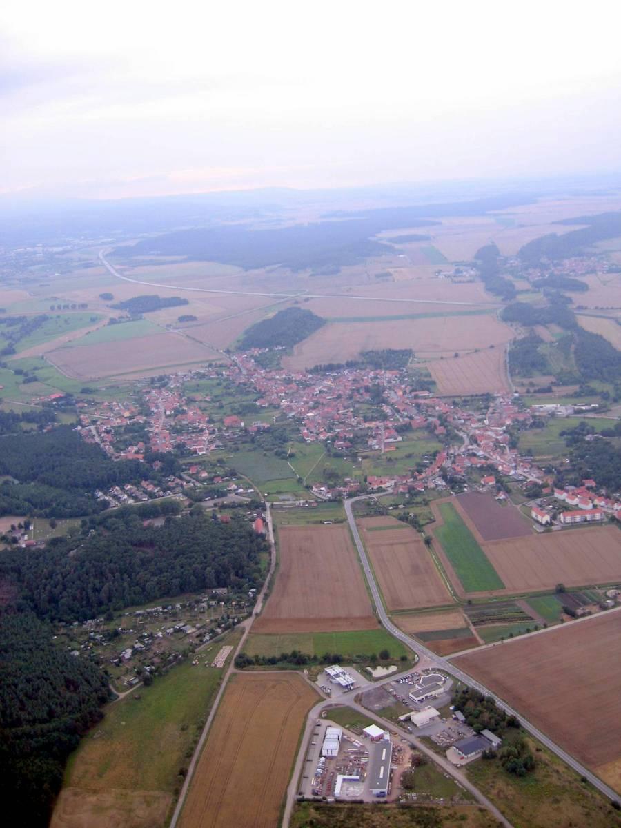 Blick von Osten auf Westerhausen
