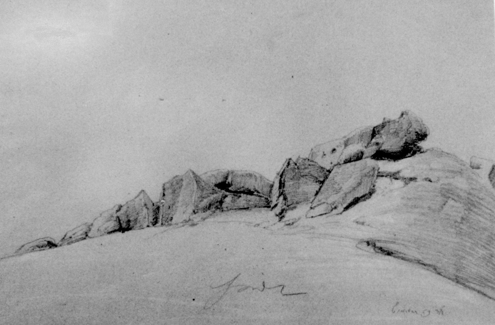 hinter dem Sandhügel  - um 1860 (Steuerwald)