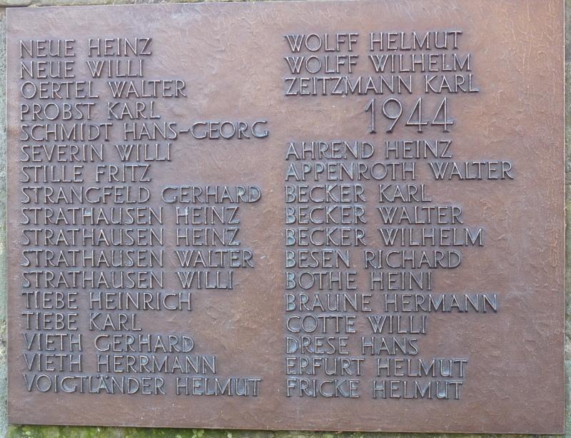 Für die Überarbeitung des Denkmales und die neuen Namenstafeln wurde gesammelt.