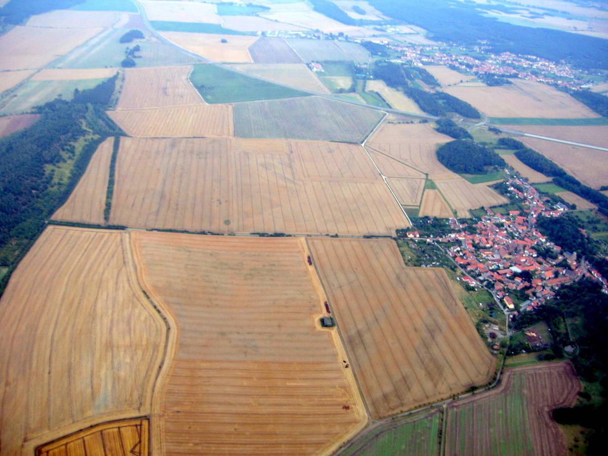Blick an Börnecke vorbei Richtung Osten