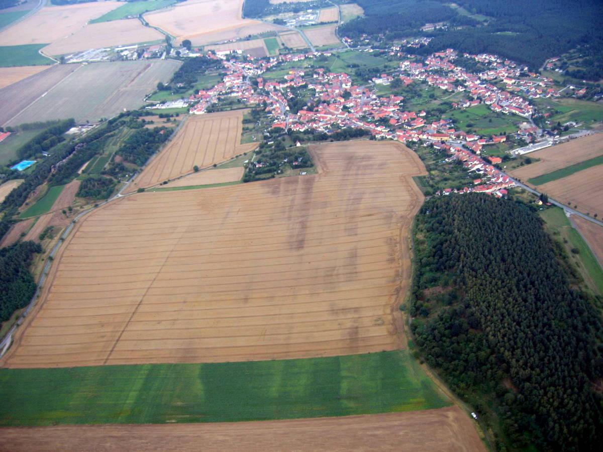 Blick über Lästerberg nach Osten