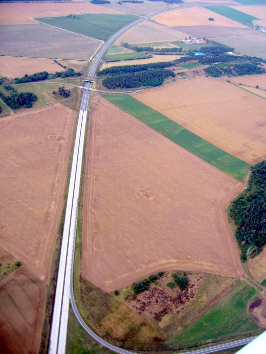 Blick entlang der B6 Richtung Nordosten