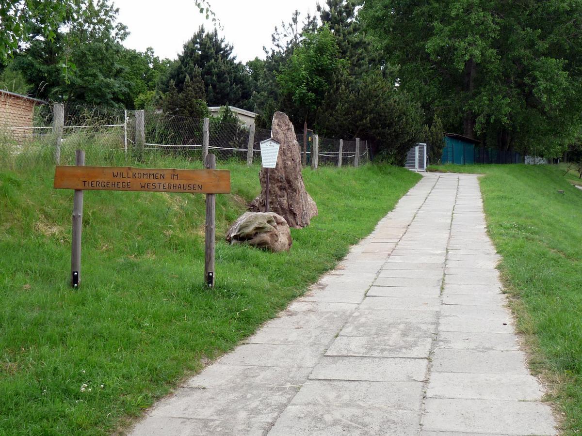 Der Flautstein am Tiergehege - zum Gedenken an die Flut von 1790