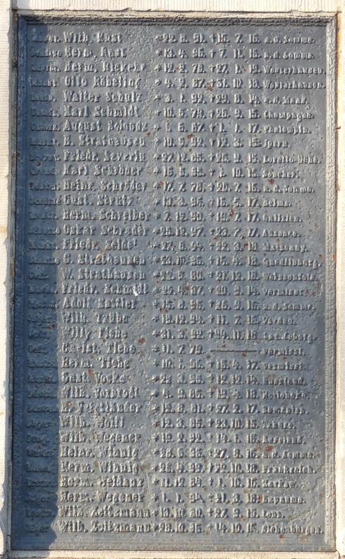 Original- Namenstafeln aus Stahl