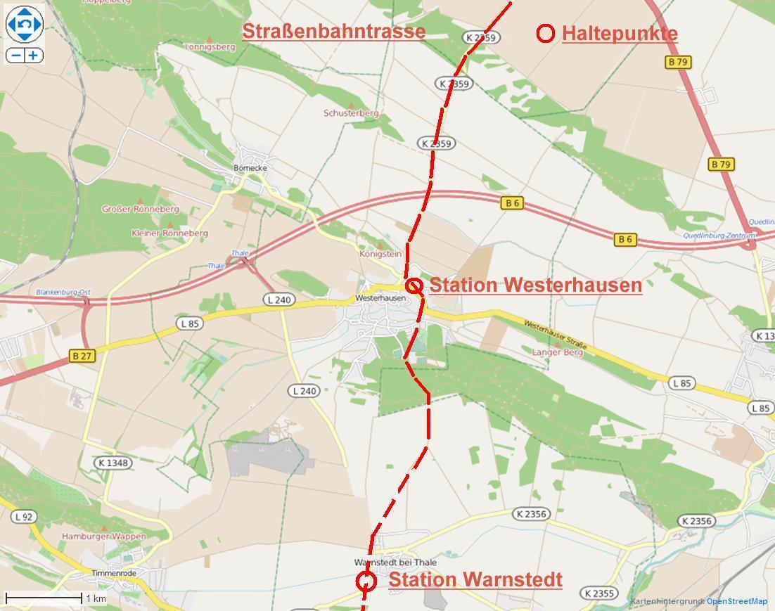 Das Projekt Laststraßenbahn nach Thale