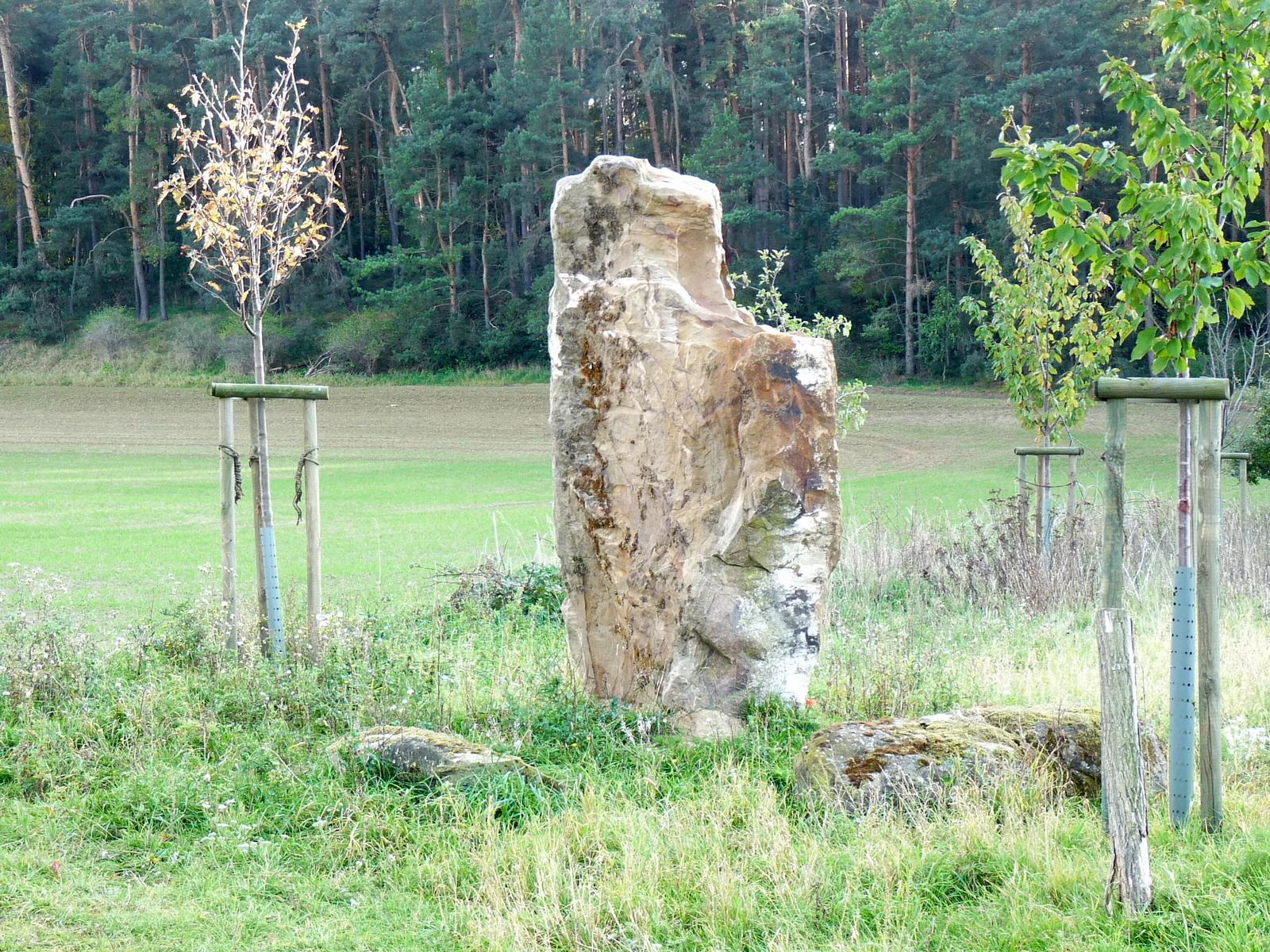 Der Eselstallstein, neu errichtet zur Erinnerung