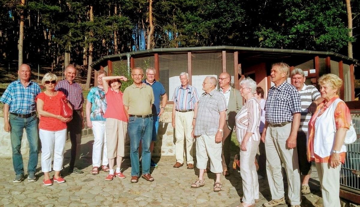 Das Gruppenfoto im Gehege