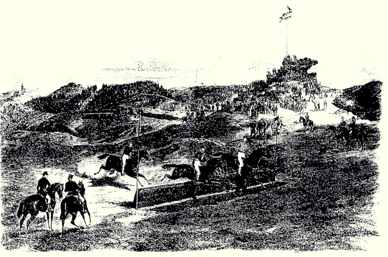 Bild von einem historischen Rennen dort