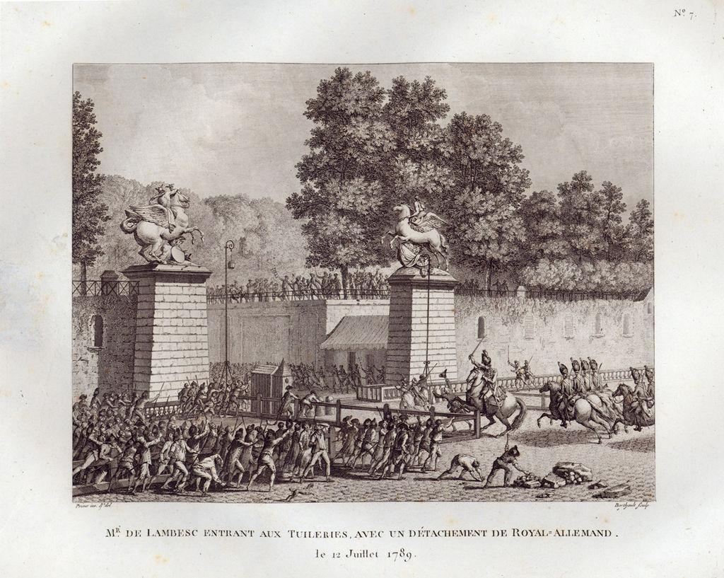 Le Royal-Allemand pénétrant dans les Tuileries le 12 juillet