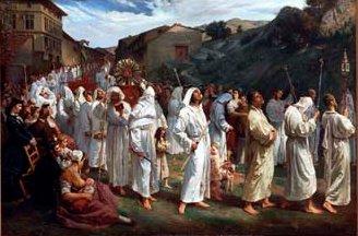la confrérie des pénitents blancs du Rosaire