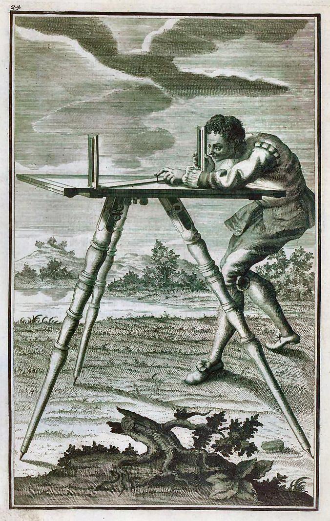la planchette : Petite plate-forme montée sur pied munie d'instruments, qui sert à lever des plans( dessiner , lever un plan ).