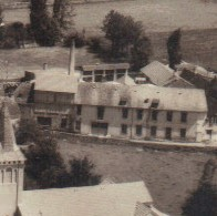 la tannerie Larrouy à l'époque ( 1950) avant l'incendie qui la ravagea