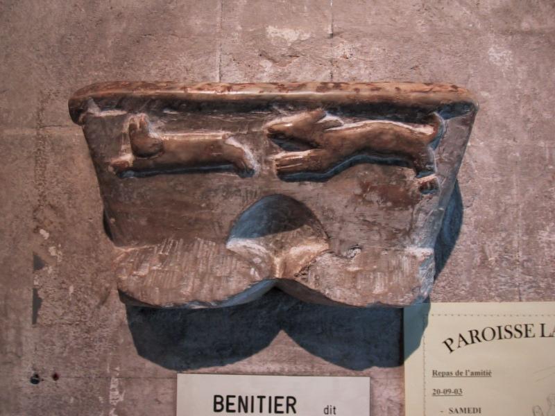 Bénitier destiné aux cagots, cathédrale d'Oloron, Béarn