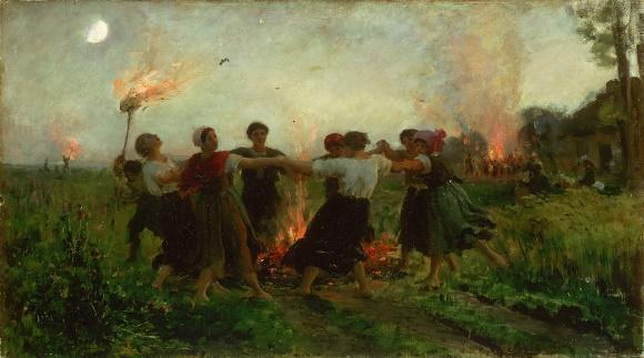 Jules Breton, La Fête de la Saint-Jean, 1875, musée des beaux-arts de Philadelphie