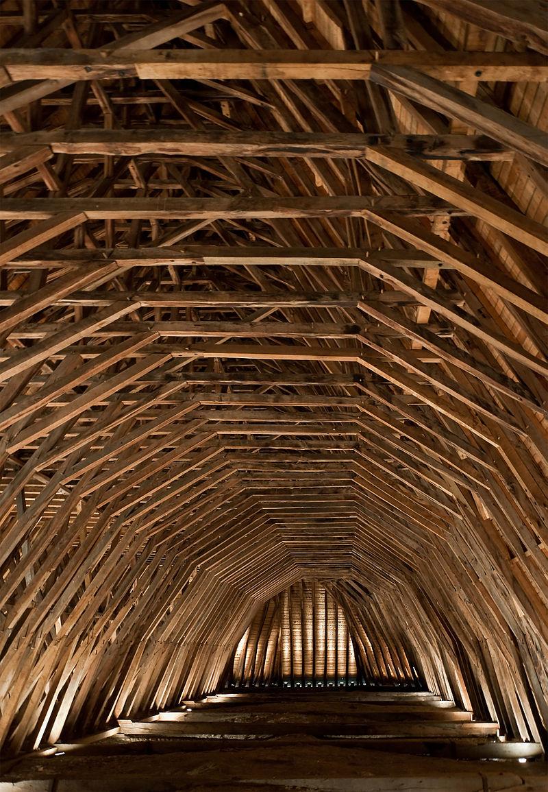 Charpente de l'église Saint-Girons à Monein, construite par les cagots.
