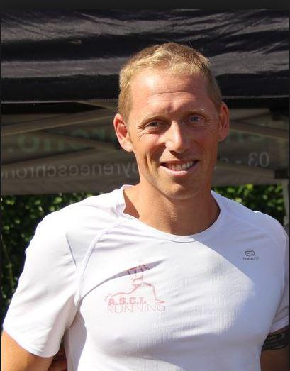 Romain Duranton de l'ASCL running