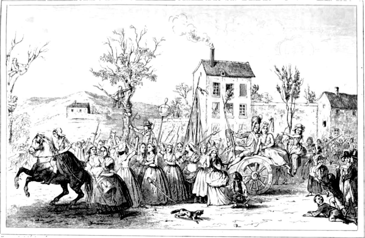 la marche des femmes sur Versailles en 1789