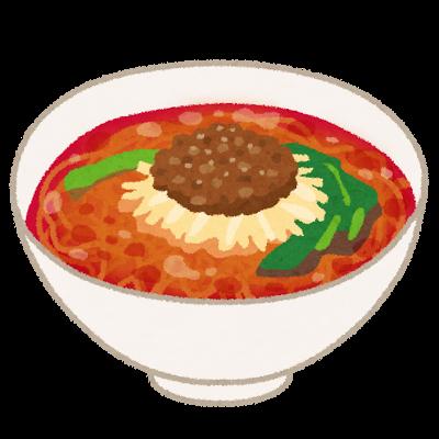 担々麺の染み抜き方法
