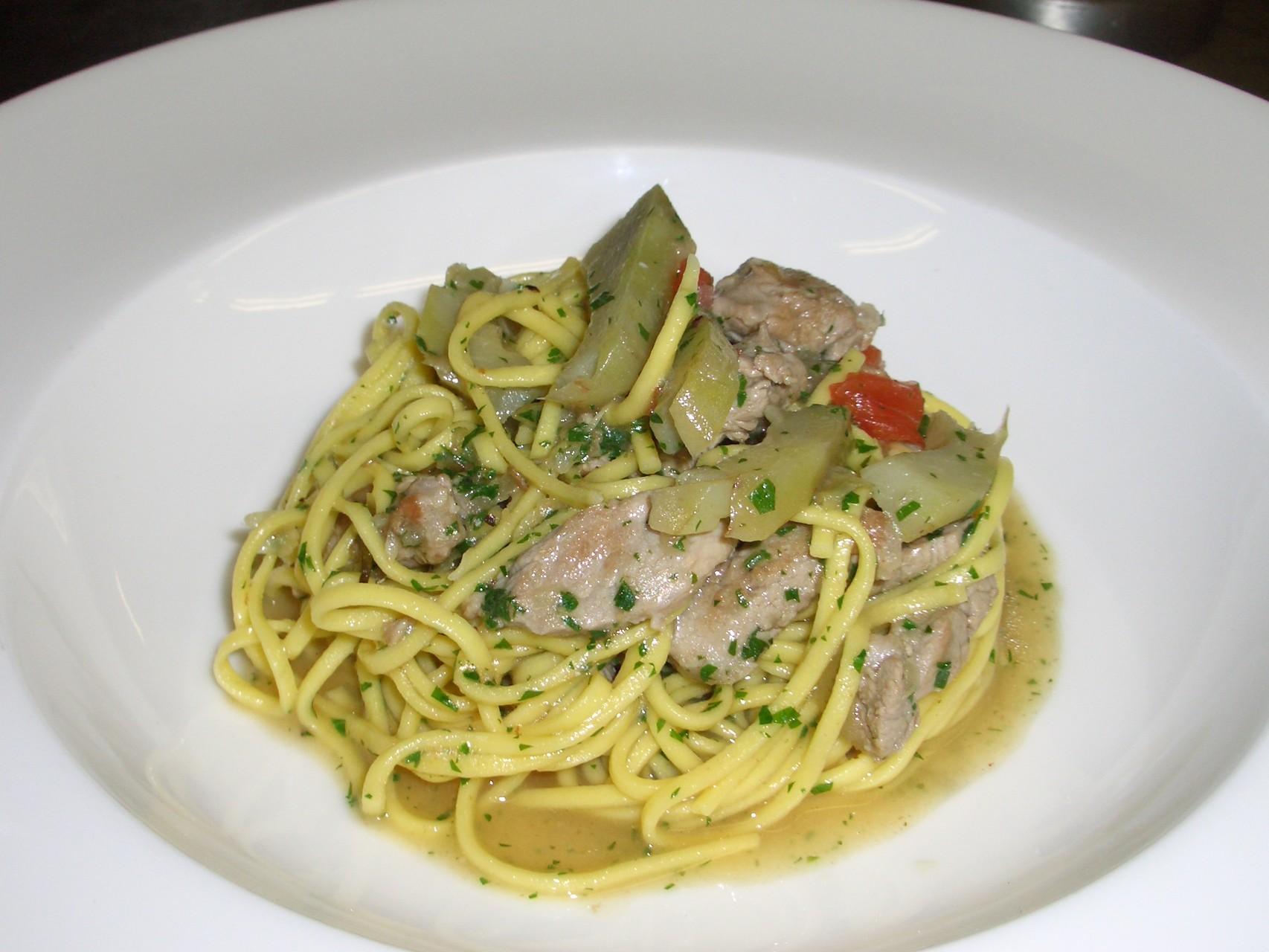 Tagliolini with artichokes