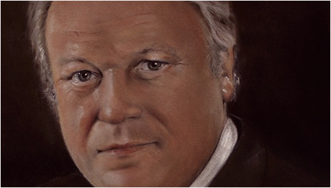 Portrait Günter Strack, Pastell auf Velour