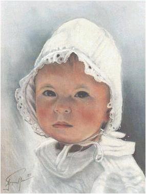Original Pastell auf Velour, 50 x 60 cm